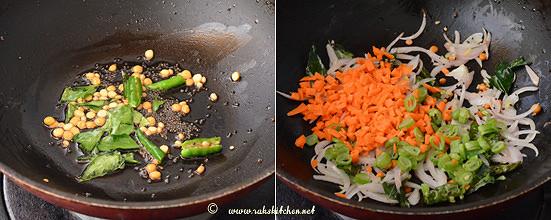 millet upma preparation 2