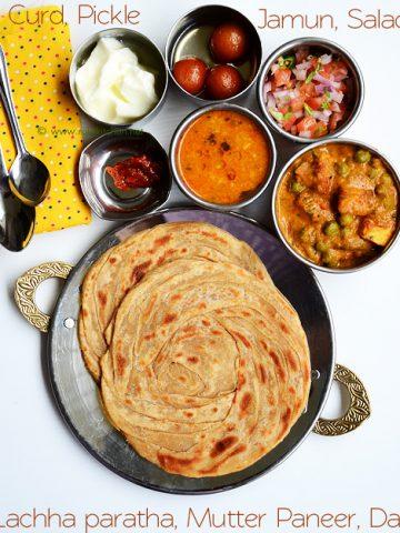 North Indian thali ideas
