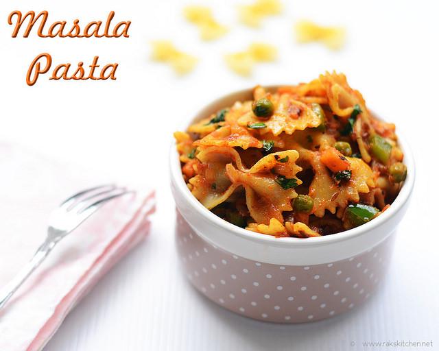 indian style-masala-pasta-recipe