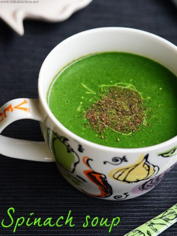 palak soup recipe