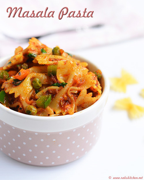 Indian Style Pasta Masala Pasta Recipe How To Make Masala Pasta Raks Kitchen