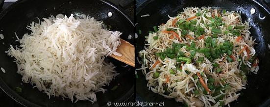 Step 4 mushroom fried rice recipe