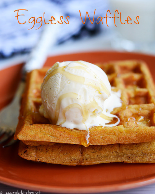 Eggless Waffles Recipe Eggless Waffle Recipe Raks Kitchen