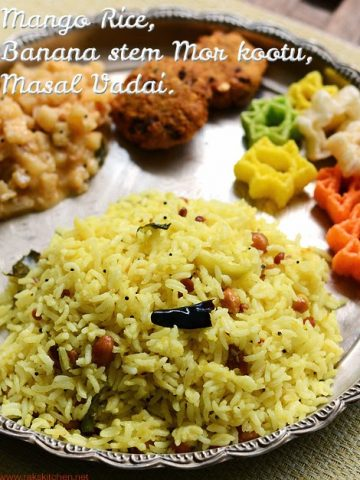 easy south Indian lunch menu