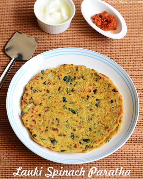 lauki-spinach-paratha-recipe
