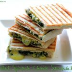 grilled spinach cheese sandwich