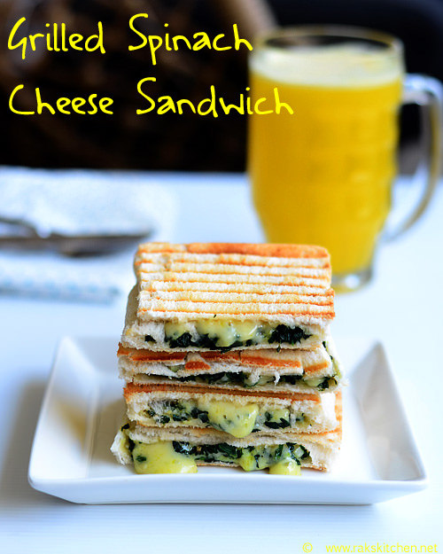 spinach cheese sandwich Indian