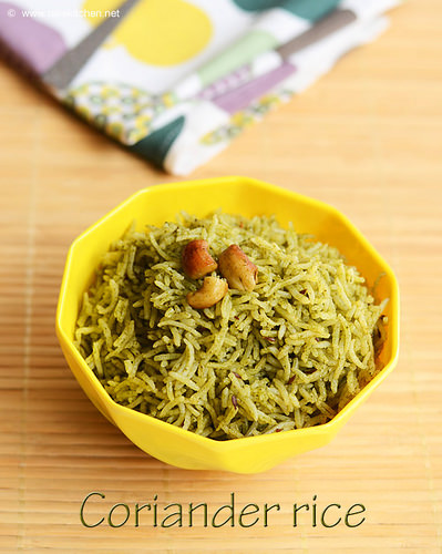 coriander-rice-no-onion-no-garlic recipe