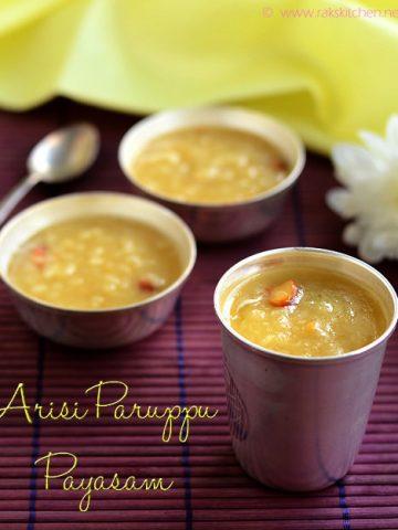 Arisi-paruppu-payasam