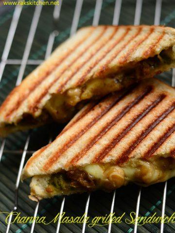 Chana masala sandwich | Leftover chana masala sandwich