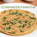 Coriander paratha
