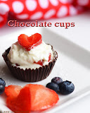 Chocolate cups recipe