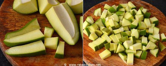 Cut mango pickle recipe step 1