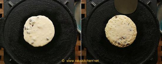 pancake over griddle