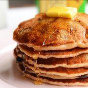 eggless banana chocolate chip pancake recipe
