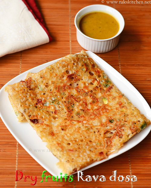 Dry-fruits-rava-dosa