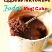 eggless fudge mug cake