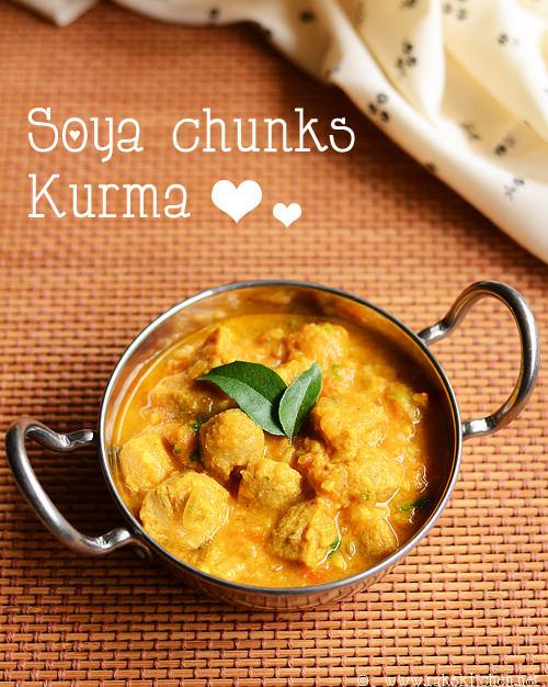 soya chunks meal maker kurma