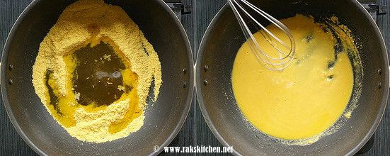how to make 7 cups burfi step 2