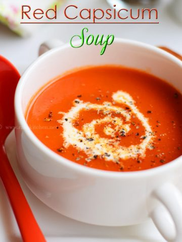 red capsicum soup, easy and quick