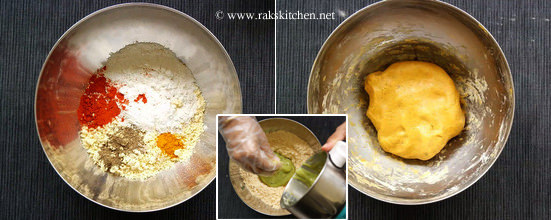 knead dough for namkeen