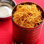 Aloo bhujia recipe, Potato sev, Diwali snacks