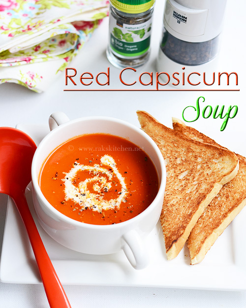 How to make red capsicum soup