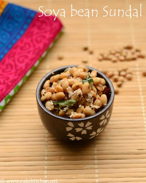 Soya beans sundal recipe