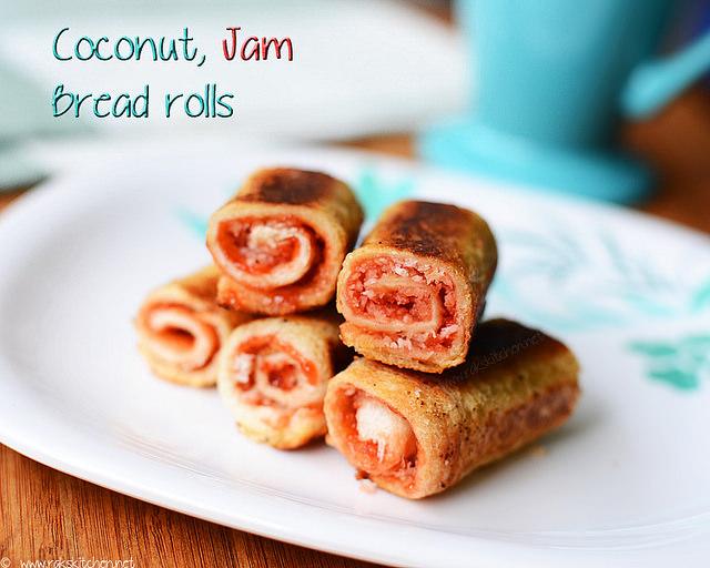 Jam-bread-rolls