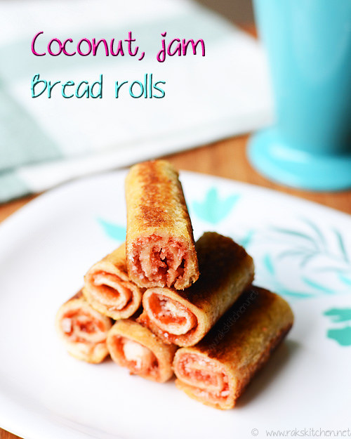 coconut-jam-bread-rolls