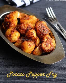 Potato pepper fry