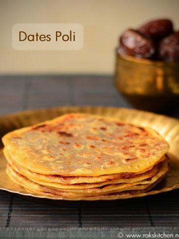 Dates poli recipe