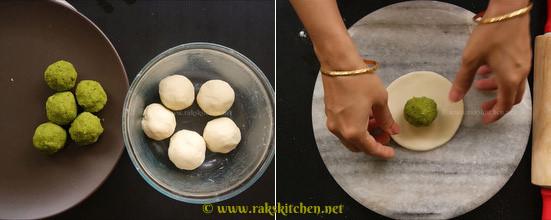 step5 dough, stuffing