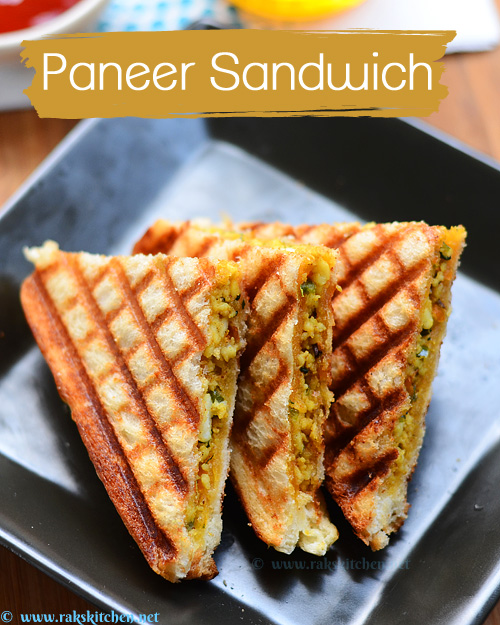 Paneer Sandwich Recipe Kids Sandwich Recipes Raks Kitchen