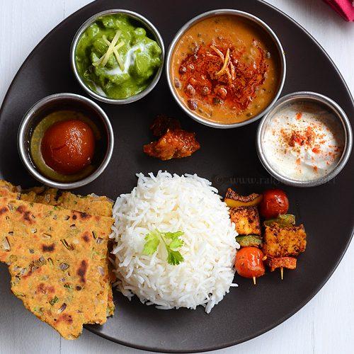 Lunch menu 61, Indian lunch recipe ideas