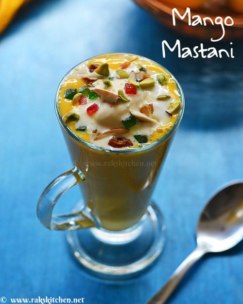 mango mastani homemade