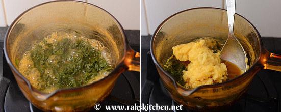 how to make vendhaya keerai kootu step 4