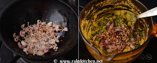 how to make vendhaya keerai kootu step 7
