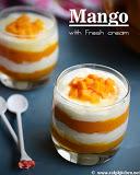 Mango with fresh cream recipe