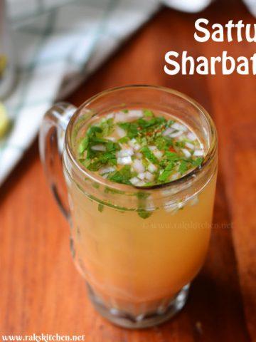 sattu sharbat in a glass mug