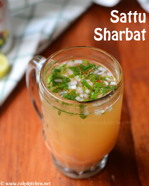 sattu sharbat in a glass mug