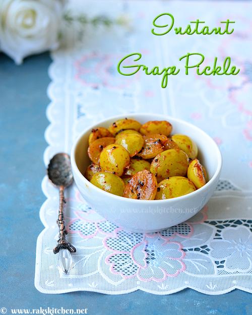 Instant grape pickle recipe
