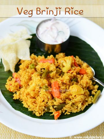 vegetable brinji rice recipe