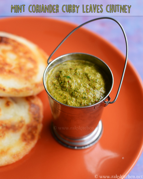 Curry leaves mint coriander chutney