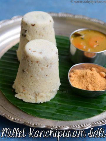 millet kanchipuram style idli