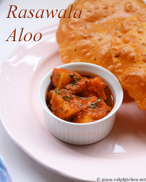 rasawala aloo with masala puri