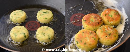 cook aloo tikki