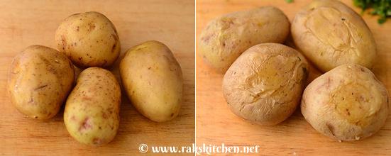 Microwave cooked potato