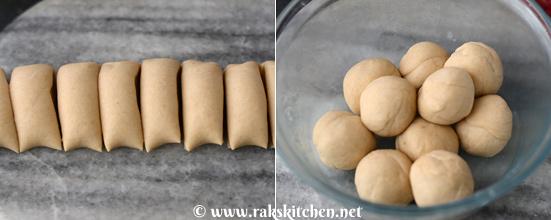 Rumali roti preparation 3