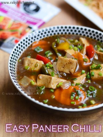 easy paneer chilli with chings masala